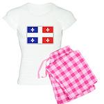 Drapeau Quebec Bleu Rouge Women's Light Pajamas