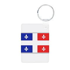 Drapeau Quebec Bleu Rouge Keychains