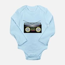 Boom Box Long Sleeve Infant Bodysuit