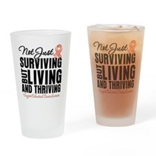 Thriving Endometrial Cancer Drinking Glass