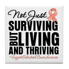 Thriving Endometrial Cancer Tile Coaster