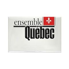 Quebec Ensemble Rectangle Magnet (100 pack)
