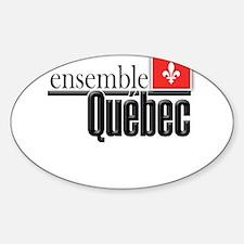 Quebec Ensemble Sticker (Oval)