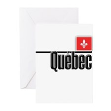 Quebec Red Square Greeting Cards (Pk of 20)