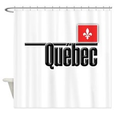 Quebec Red Square Shower Curtain