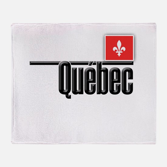 Quebec Red Square Throw Blanket