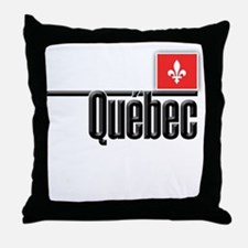 Quebec Red Square Throw Pillow