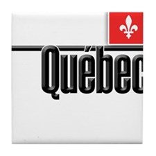 Quebec Red Square Tile Coaster