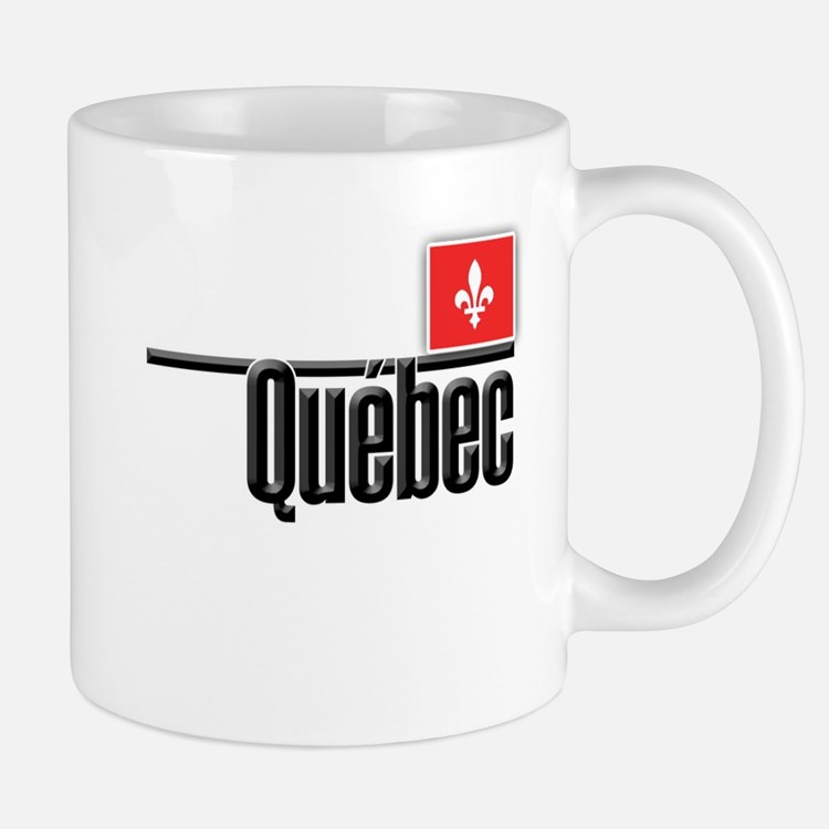 Quebec Red Square Mug
