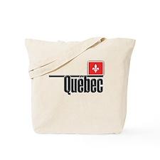 Quebec Red Square Tote Bag