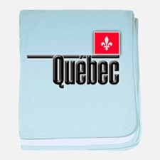 Quebec Red Square baby blanket
