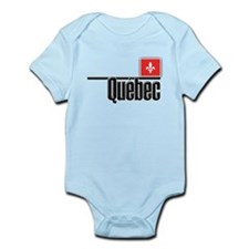 Quebec Red Square Infant Bodysuit