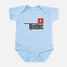 Quebec Red Square Infant Bodysuit