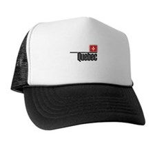 Quebec Red Square Trucker Hat