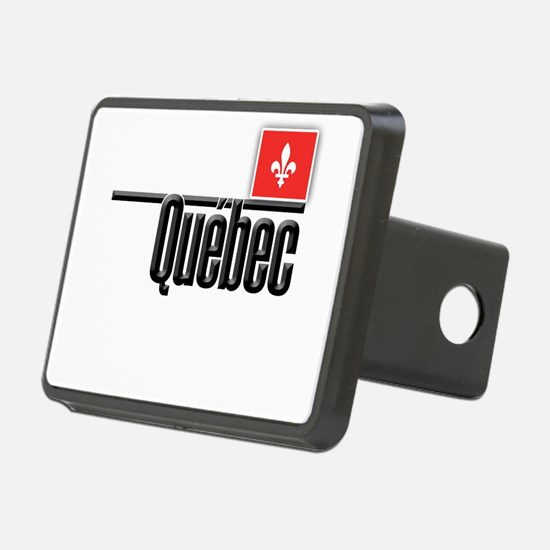 Quebec Red Square Hitch Cover