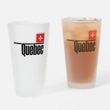 Quebec Red Square Drinking Glass