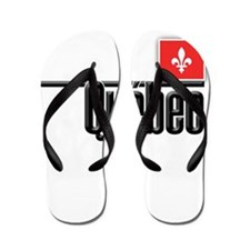 Quebec Red Square Flip Flops