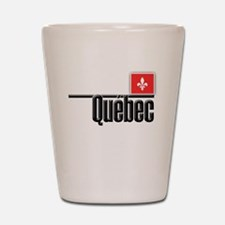 Quebec Red Square Shot Glass