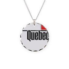 Quebec Red Square Necklace