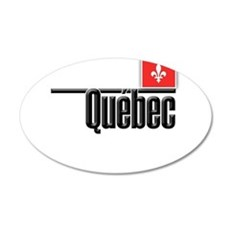 Quebec Red Square Wall Decal