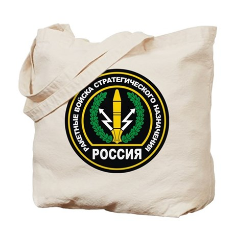 Russian Strategic Missile Forces Badge Tote Bag