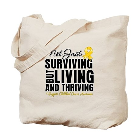 Thriving - Childhood Cancer Tote Bag