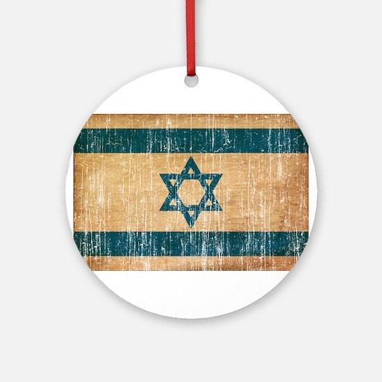 Israel Flag Ornament (Round)