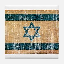 Israel Flag Tile Coaster