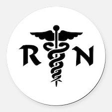 RN Medical Symbol Round Car Magnet