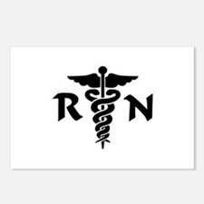 RN Medical Symbol Postcards (Package of 8)