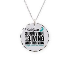 Thriving - Cervical Cancer Necklace Circle Charm