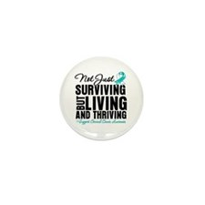 Thriving - Cervical Cancer Mini Button (10 pack)