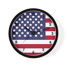 US Flag XL Wall Clock