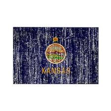 Kansas Flag Rectangle Magnet