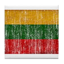 Lithuania Flag Tile Coaster