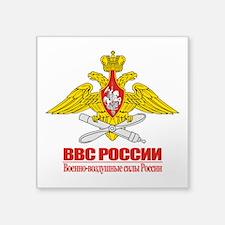 "Russian Air Force Emblem Square Sticker 3"" x 3"""
