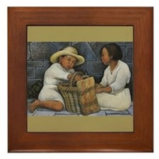 Diego Rivera Two Children Art Framed Tile