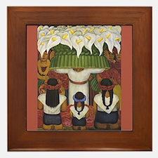 Diego Rivera Canal Detail Art Framed Tile
