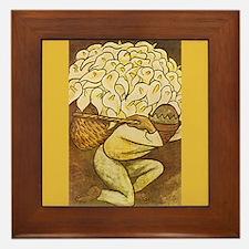Diego Rivera Man Kneeling Basket Art Framed Tile