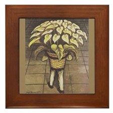 Diego Rivera Man Carryin Basket Art Framed Tile