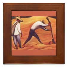Diego Rivera Peasants Art Framed Tile