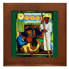Diego Rivera Flower Canoe Art Framed Tile