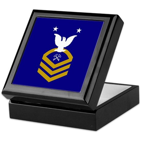 Master Chief Storekeeper<BR> Tiled Insignia Box