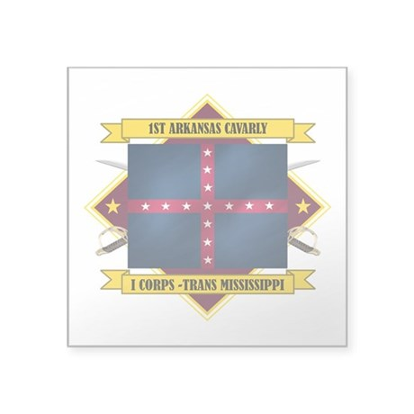 1st Arkansas Cavalry (Flag 5.2).png Square Sticker