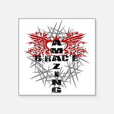 "Amazing Grace Square Sticker 3"" x 3"""