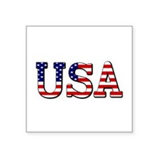 "Team USA Square Sticker 3"" x 3"""