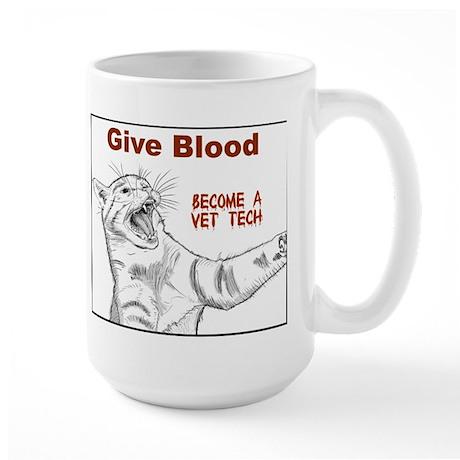 Give Blood tech Large Mug