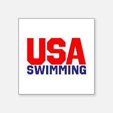 """Team USA Square Sticker 3"""" x 3"""""""