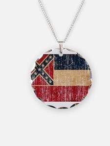 Mississippi Flag Necklace