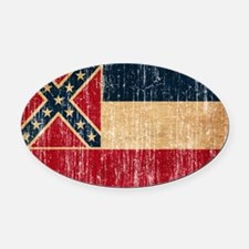 Mississippi Flag Oval Car Magnet